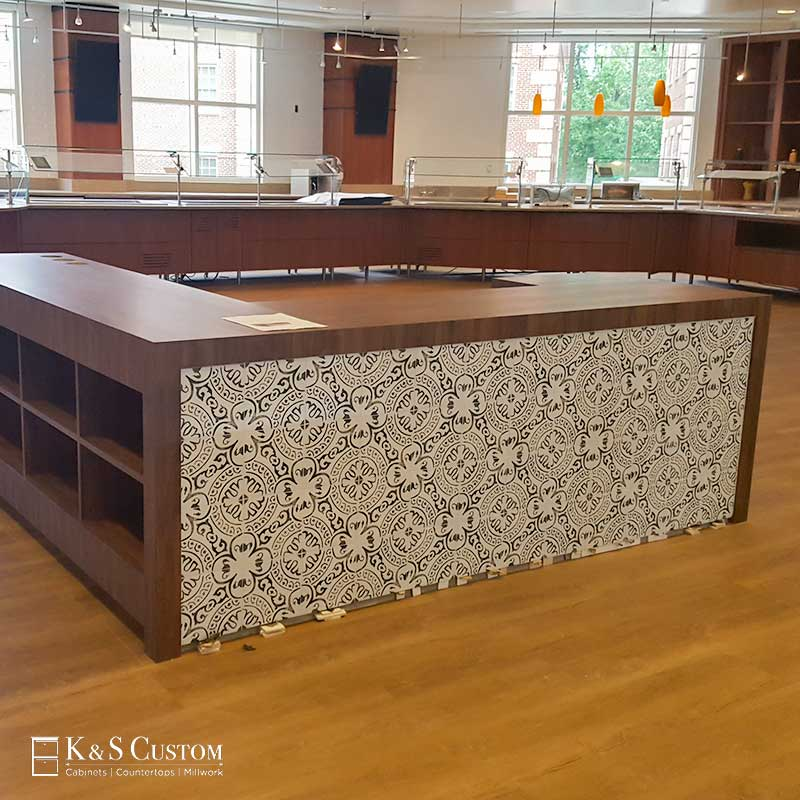 Commercial Cabinet Wrap Install at High Point University