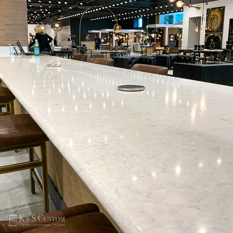 SUNPAN solid countertop at the furniture market