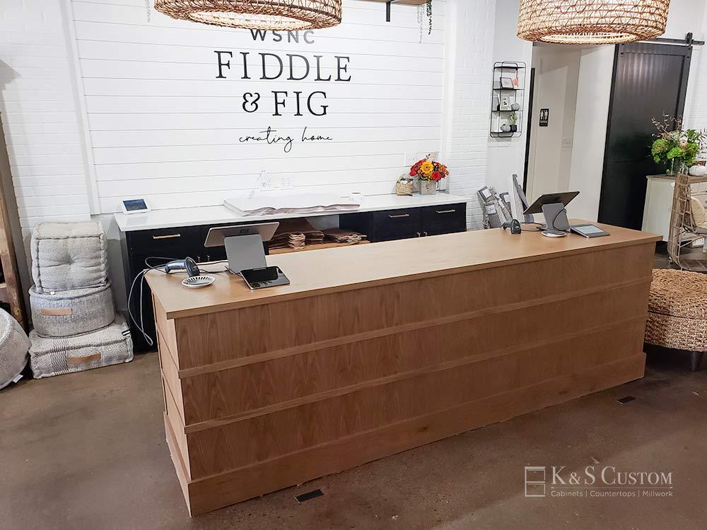 Fiddle and Fig Customer Desk