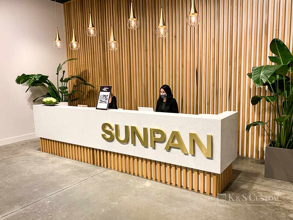 SUNPAN welcome desk at the furniture market